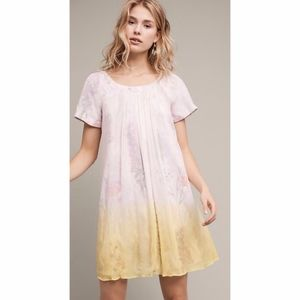 Anthropologie HD in Paris dipped chroma dress PREO